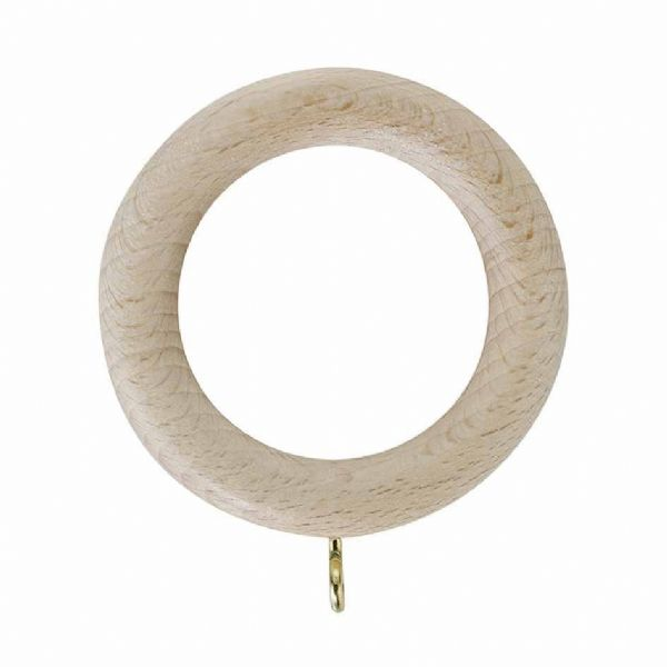 Rolls Unfinished 35mm Wooden Curtain Rings (Pack of 4)